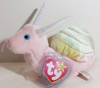 "TY Beanie Babies ""SWIRLY"" the SNAIL - MWMTs! RETIRED! PERFECT GIFT! A MUST HAVE!"
