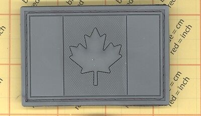Pvc Patch Canada Flag Rubber Leaf Canadian Tactical Army Ops Morale Acu