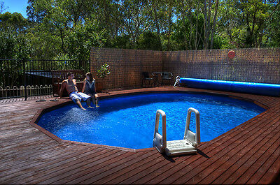 ABOVE GROUND  POOL PACKAGE 5.6m x 3.0m CHLORINE FREE AUTO CLEANER+COVER