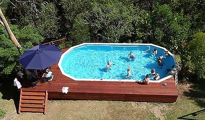 ABOVE GROUND SWIMMING POOL PACKAGE 15.2m x 6.0mSALTWATER ***FREE FUN PACK