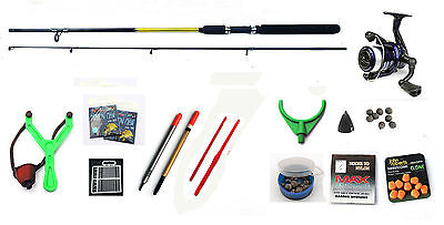 Starter Coarse & Float fishing kit/ set  Rod Reel ,floats, shot ,catapult