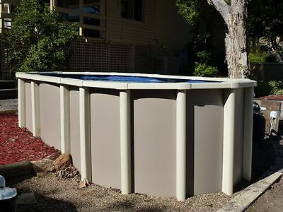 ABOVE GROUND SWIMMING POOL PACK 5.6mx3.0m SALT FREE AUTOCLEANER+COVER AUST MADE