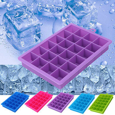 24 Grid Silicone Drink Ice Cube Pudding Jelly Soap Mold Mould Tray Tool