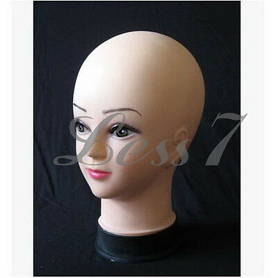 Stunning Plastic Female Display Mannequin Head Hat Wig Sunglasses Display XK び