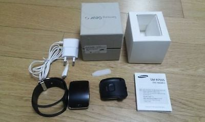 Samsung Galaxy Gear S SM-R750 Charcoal Black smart watch USED mint condition DHL