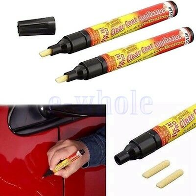 2 X Universal Car Auto Clean Coat Paint Scratch Repair Remover Pen Applicator TW