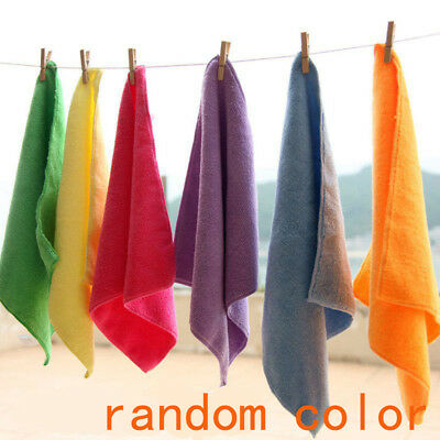 10/20 Pcs Mixed Color Microfiber Car Cleaning Towel Kitchen Washing Polish Set