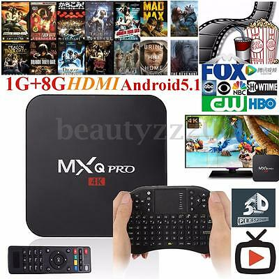 MXQ Pro Smart TV BOX Fully Loaded 4K Android5.1 Quad Core Media Player Miracast