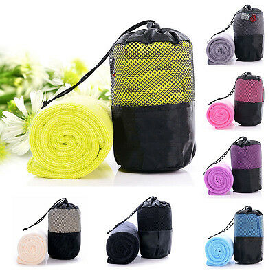 Microfiber Fast Quick Drying Towel Gym Sport Footy Travel Camping Hiking Swim
