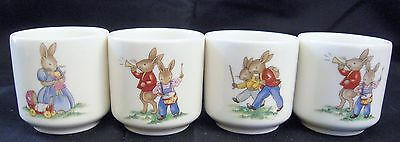 Royal Doulton Bunnykins Child's Egg Cups, Set of 4; 7 Different Illus. Incl #125