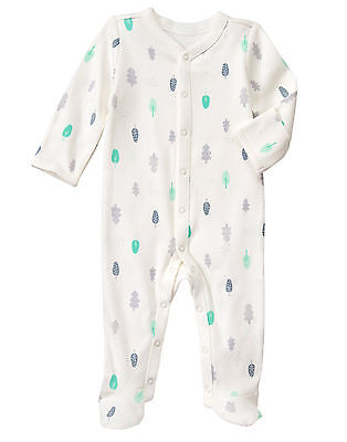 NWT Gymboree Tree Forest Scenic Print Footed Sleeper Unisex Baby Boy Girl