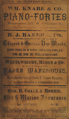 19 old CITY DIRECTORY genealogy research BALTIMORE Maryland MD advertisements