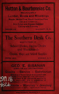 HICKORY North Carolina NC 10 vintage old CITY DIRECTORY genealogy research ads