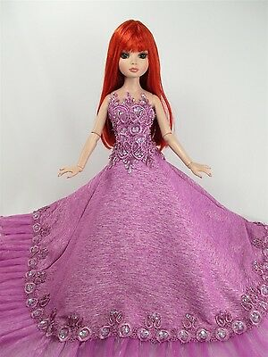 Handcrafted Outfit Purple Dress Gown Tonner Tyler Essential Ellowyne # 700-60