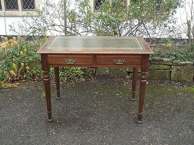 Beautiful Dainty Antique High Quality Oak Ladies Desk by Maple & Co Leather Top