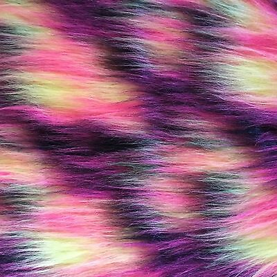 Large Pad Hot Colours Faux Fur Polar Fibre Fly Tying Materials For Fly Fishing