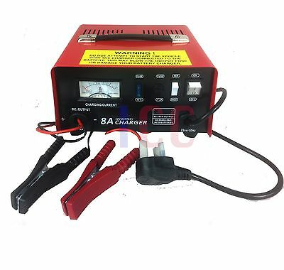 12V CAR FAST CHARGE BATTERY CHARGER  BOOSTER METAL CASE 8A 90Ahr PROFESSIONAL