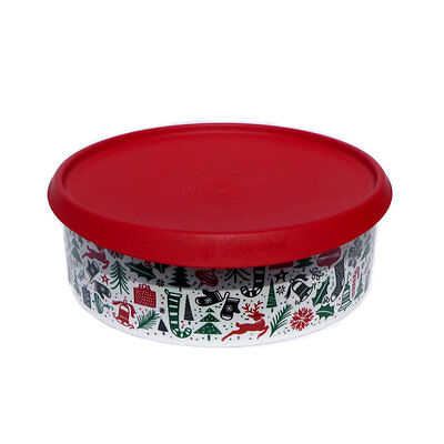 Tupperware Christmas 2016 Cookie Canister Red White Green NEW Instant Seal