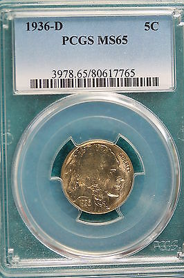 1936-D PCGS MS65 Buffalo Nickel!! #A2831