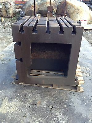 "T-Slotted Drilling Machine Workholding Block / Table / Box 36.5"" X 34.5"" X 30"""