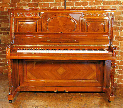 Rebuilt, 1912, Steinway Vertegrand Piano with an Ornately Carved, Walnut Case