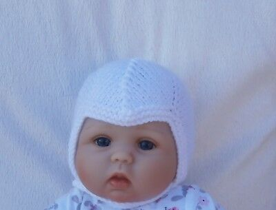 Hand Knitted Traditional Cute Baby Helmet / Hat - Various Colours & 4 Sizes