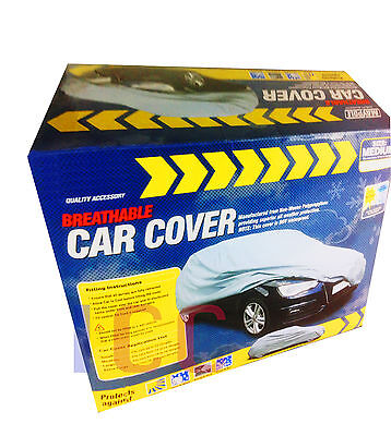 BREATHABLE LAYERED car cover protector water resistant elasticated winter MEDIUM