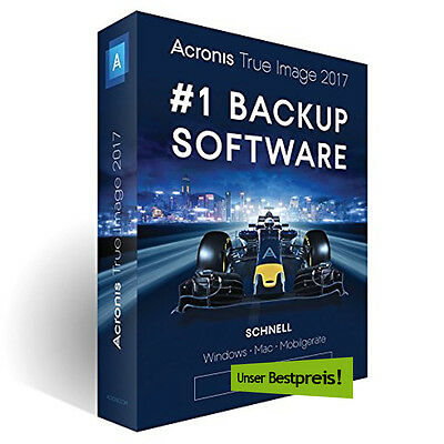 Acronis True Image 2017 - 1, 3 oder 5 PC - inkl. gratis Upgrade auf Version 2018