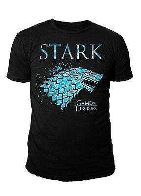 Game of Thrones Herren Logo T-Shirt - Splatter Schattenwolf (Schwarz) (S-XL)