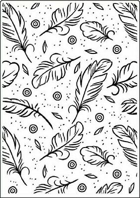 """Crafts Too Embossing Folder 5""""x 7"""" - FEATHERS - CTFD3102"""