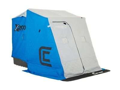NEW Clam Outdoors 10124 X200 Thermal - 2 man Ice Fishing Shelter with Grey Sled