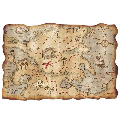 1 Pirate Treasure Map Party Decoration