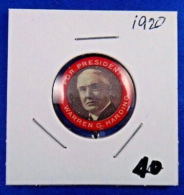 1920 Warren G. Harding Presidential Political Campaign Pin Pinback Button