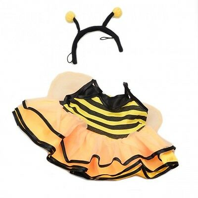 "Buzzy bee Costume & wings Teddy Clothes to fit 15"" build a bear plush teddy"