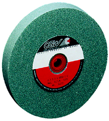 6 x 1 x 1 100 Grit CGW Green Silicon Carbide Bench Grinding Wheel, 35024