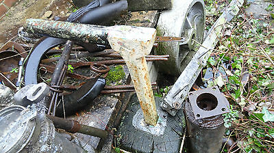 old steel anvil round top and long