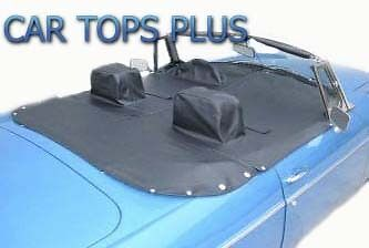 """1971-80 MGB  Roadster Tonneau Cover , With Headrest Pockets and Flaps """"Robbins"""""""