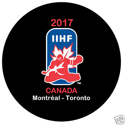 2017 World Juniors Championship IIHF Hockey Puck - Canada, USA, Russia, Sweden..