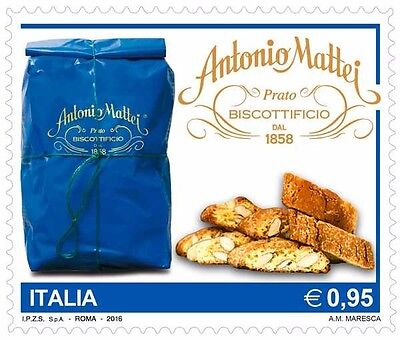 Italy 2016 Cookies Biscuits Sweets Food Gastronomy/Confectionery company 1v MNH