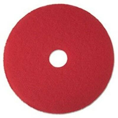 """3M MMM08392 Buffer Floor Pad 5100 17"""" Red 5 Count,"""