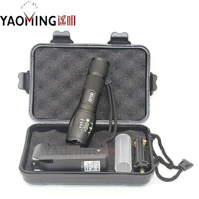 Military G700 Tactical Flashlight LED X2000 Zoom Lumify T6 Torc+charger+box