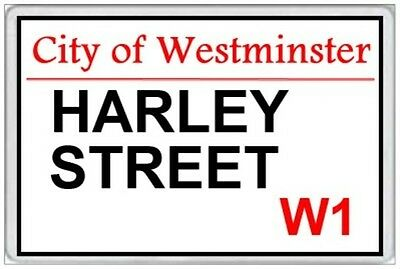 Harley Street - Jumbo Fridge Magnet - London Postcode Westminster Medical Doctor