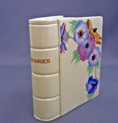 """Hand Painted CLARICE CLIFF 5"""" Anemone Vase Figural Book Title Memories Wilkinson"""
