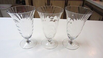 3) Cambridge Caprice Footed Water / Tea Glasses, 6 1/4 in. Tall