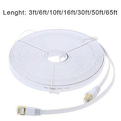 1/2/3/5/10/15/20M Computer Router Gold Plated Plug STP Wires CAT7 RJ45 Ethernet