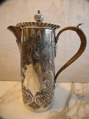 Antique Silver Chocolate Pot Victorian Edwardian James Deakin Sons Sheffield