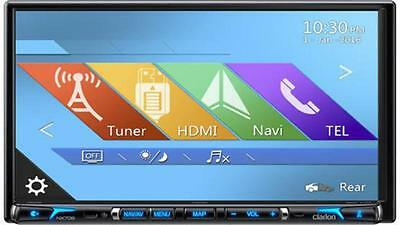 Clarion Nx706Au 2-Din Dvd Multimedia Station With Built-In Navigation & 7-Inch T