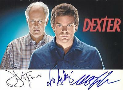 Dexter- Photo signed by Michael C. Hall & John Lithgow