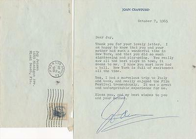 Joan Crawford-Typed Signed Letter from 1965