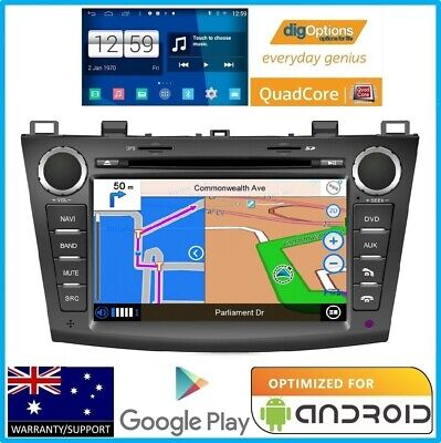 !For Mazda 3 BL 2009-2013 GPS Bluetooth Car Player Navigation Radio Stereo DVD